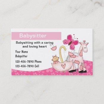 Baby Sitter Business Cards Business Cards 100