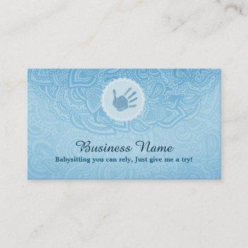 Nanny Business Cards Business Cards 100 - baby sitting cards