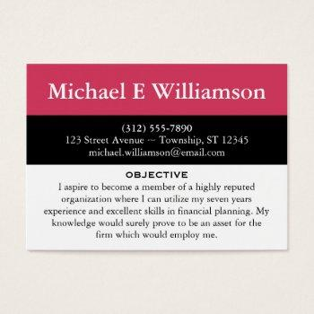 Job Search Business Cards Business Cards 100 - resume business cards