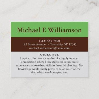 Job Search Business Cards Business Cards 100