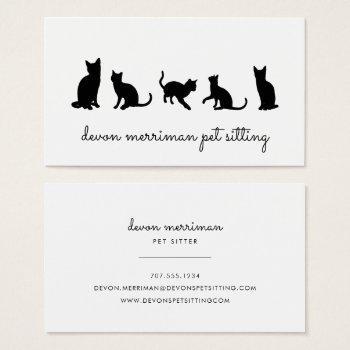 Pet Sitting Business Cards Pet Sitter Business Cards Pet Sittingpre