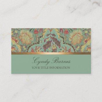 Floral Damask Business Cards Business Cards 100