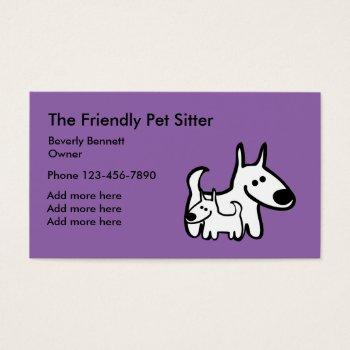 Pet sitting business cards kicksneakers animal sitting business cards business cards 100 free pet sitter colourmoves