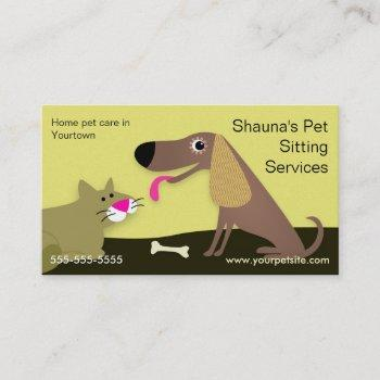 Pet Sitter Business Cards Business Cards 100