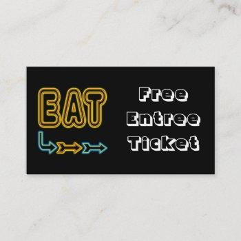 Event Drink Tickets Business Cards 100