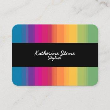 Rainbow Gradient Business Cards Business Cards 100