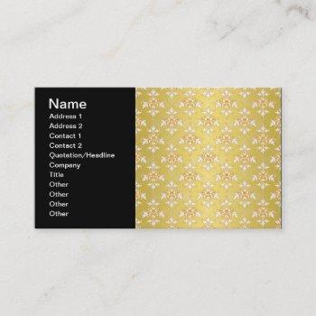 Saffron Damask Business Cards Business Cards 100