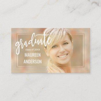 High School College Grad Business Cards Business Cards 100