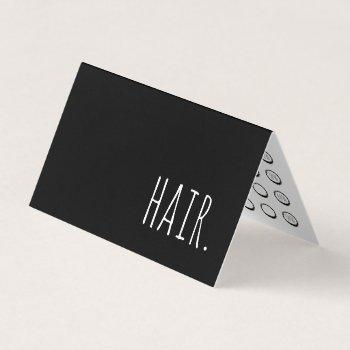 Spa Salon Punch Business Cards Business Cards 100