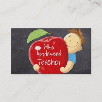 Apple Teacher Business Cards Business Cards 100
