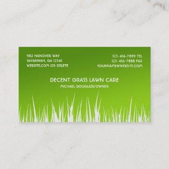 Lawn Care Business Cards Business Cards 100 - lawn care business cards