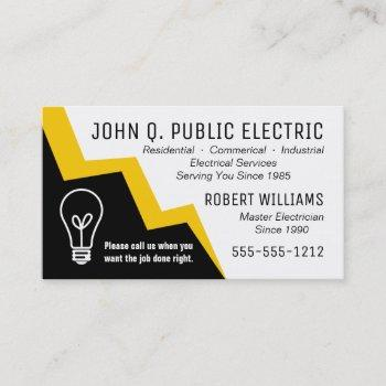 Master Electrician Business Cards Business Cards 100