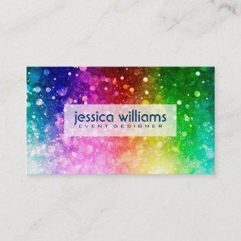 Colorful Rainbow Business Cards Business Cards 100