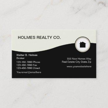 modern real estate business cards - Nisatasj-plus