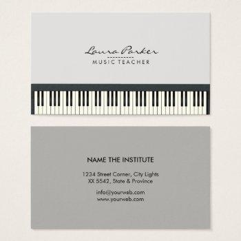 piano business cards - Towerssconstruction