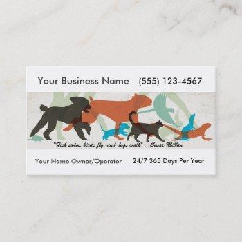 Dog Walker Business Cards Arts - Arts