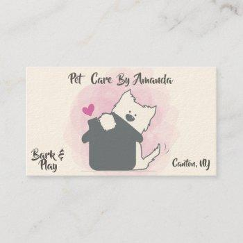 For Dog Sitter Business Cards Business Cards 100