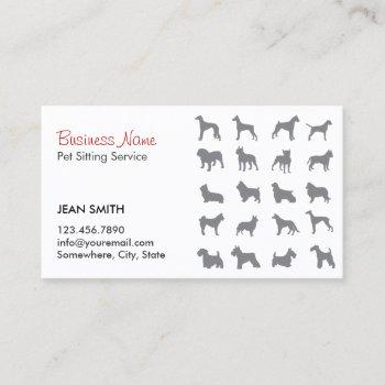 Pet Sitter Pet Sitting Services Business Cards Business Cards 100