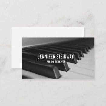 Piano Teacher Business Cards Business Cards 100
