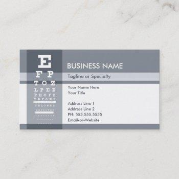 Eye Chart Business Cards Business Cards 100