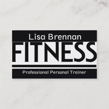 Personal Fitness Trainer Business Cards Business Cards 100