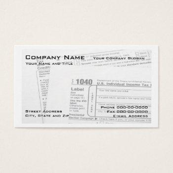 Tax Form Business Cards Business Cards 100