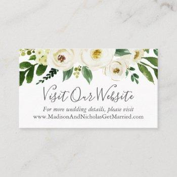 White Wedding Website Business Cards Business Cards 100