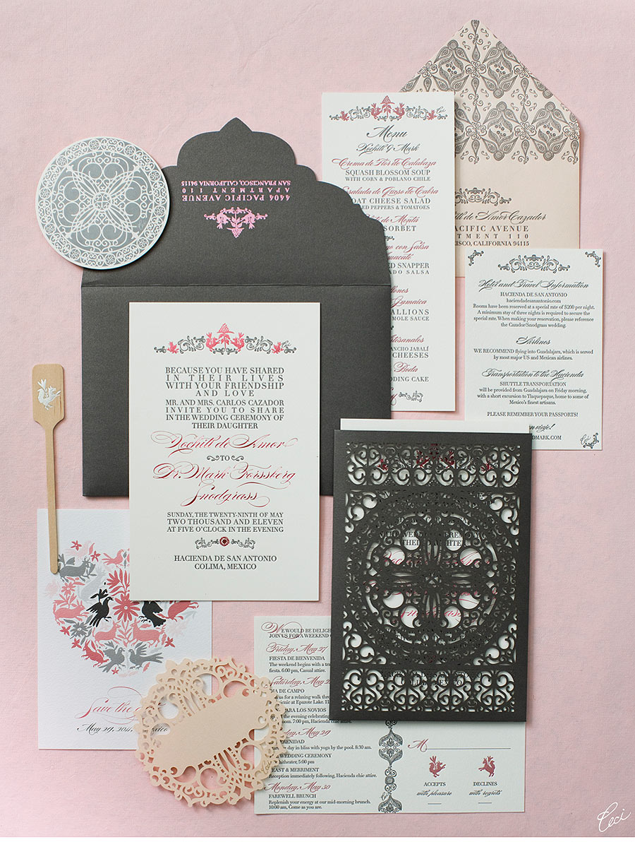 mexican inspired wedding invitations mexican wedding invitations V77 Our Muse Elegant Mexican Wedding Xochitl Mark Part 1