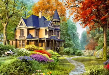 3d Colourful Wallpaper Countryside House Other Amp Abstract Background Wallpapers