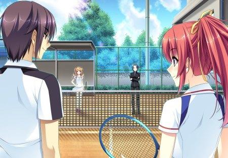 Wallpaper Tennis Girl Let S Play Tennis Anime Manga World Wallpapers And