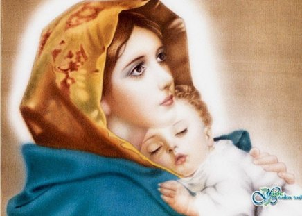 Infant Jesus Hd Wallpapers Our Sweet Mother Mary To All Mothers In The Mother S Day