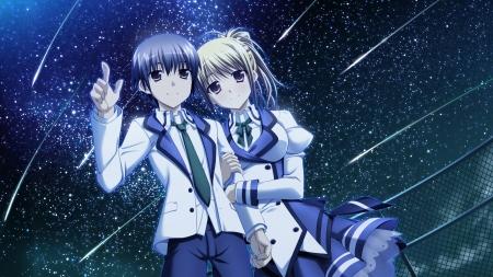 Best Girl X Boy Love Anime Wallpaper Falling Stars ♡ Other Amp Anime Background Wallpapers On