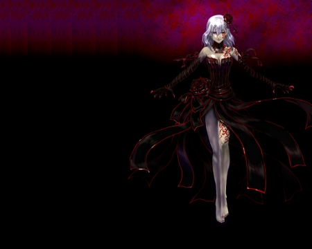 Wallpaper Anime Girl Cool Dark Sakura Fate Stay Night Amp Anime Background