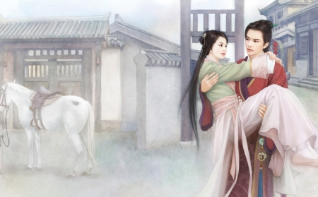 Cute Hugging Couples Wallpapers Oriental Love Story 3d And Cg Amp Abstract Background