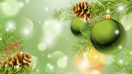 Nice Wallpapers Happy New Year Greetings Quotes 1080p Christmas Green And Cones Winter Amp Nature Background