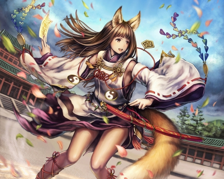Lovely Wallpaper Girl And Boy Kitsune Other Amp Anime Background Wallpapers On Desktop