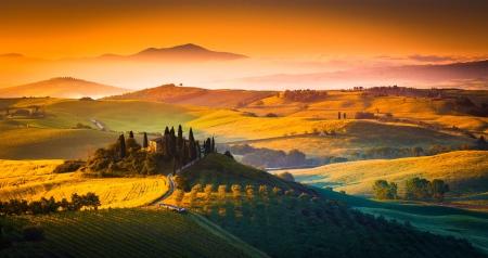Background Wallpaper Hd Fall Fog Tuscany Sunrise Italy Fields Amp Nature Background