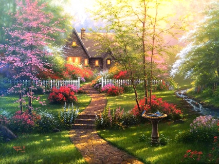Fall Cottage Wallpaper Dogwood Cottage Houses Amp Architecture Background