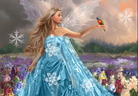 Mystical Creatures In The Fall Wallpaper Blue Fairy 3d And Cg Amp Abstract Background Wallpapers On