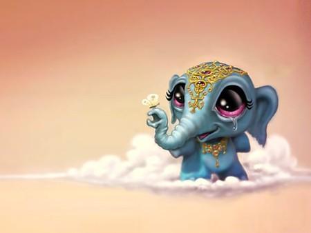 Cute Baby Ganesha Wallpapers Little Jumbo Elephants Amp Animals Background Wallpapers