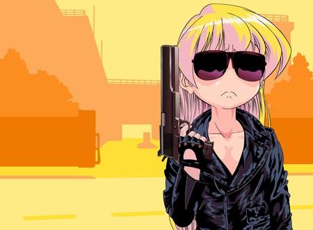 Gun Girl Anime Wallpaper Miss Terminator Other Amp Anime Background Wallpapers On