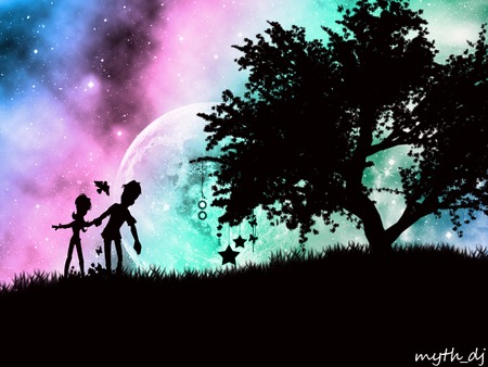 3d Dj Wallpaper Free Download Moon Love 3d And Cg Amp Abstract Background Wallpapers On
