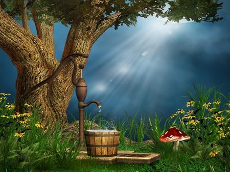 3d Mushroom Wallpaper For Laptop Fantasy World Fantasy Amp Abstract Background Wallpapers