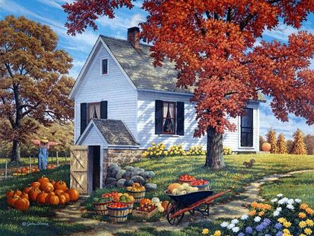 Fall Pumpkin Desktop Wallpaper Free John Sloane Garden Harvest Other Amp Nature Background