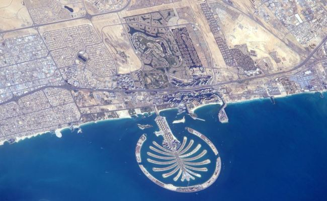 Astronaut Tweets Dubai Palm Jumeirah From Space Emirates24 7