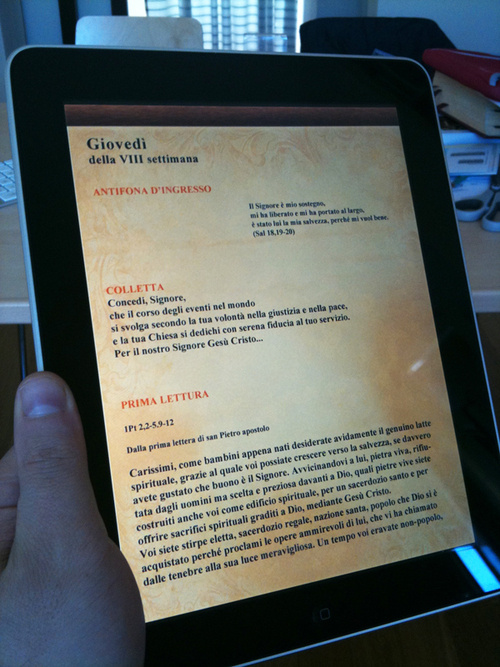 iPad Now Magical and Holy Thanks to Digital Missal
