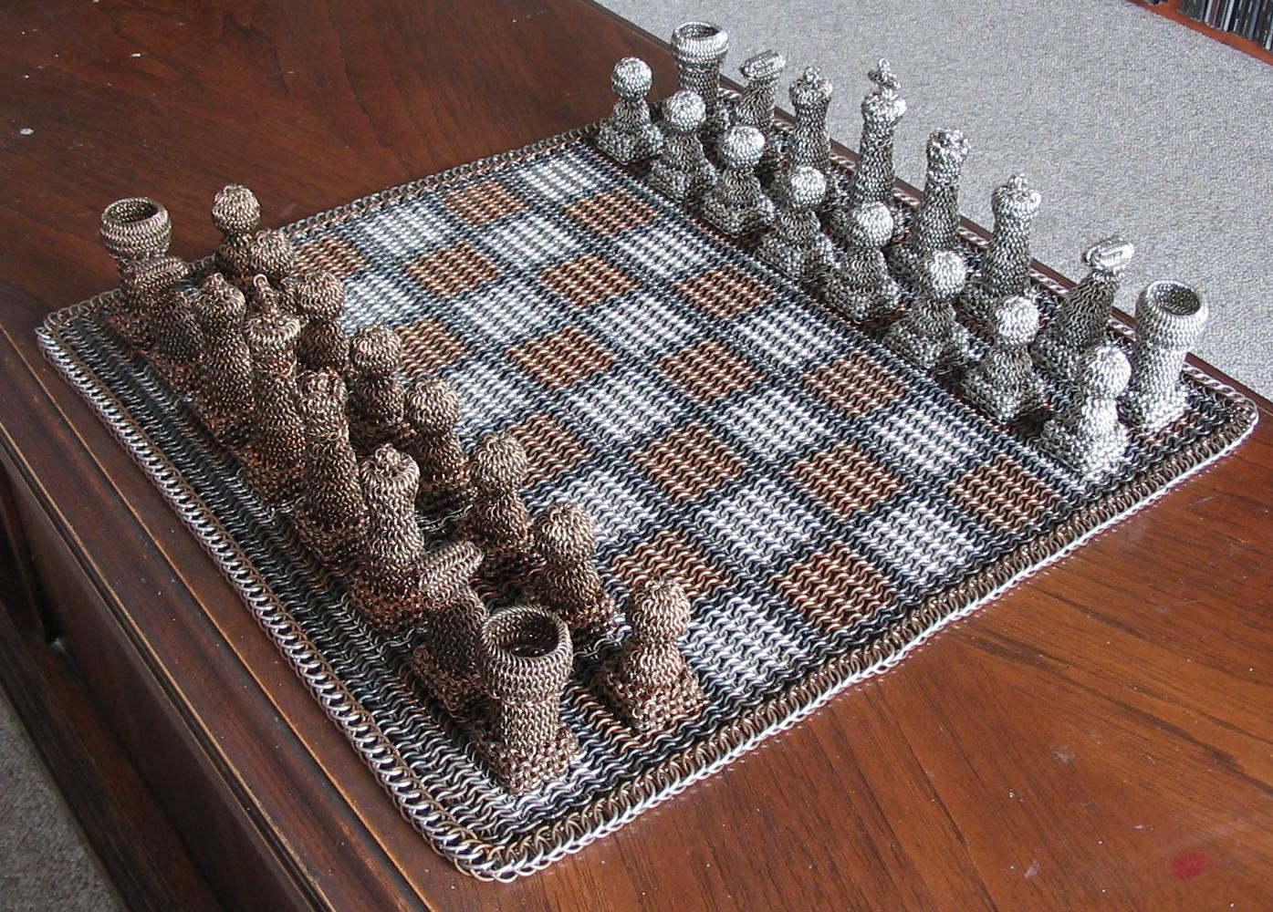 Chest Game Set Chainmail Chess Set Is Suited For Battle Gizmodo Australia