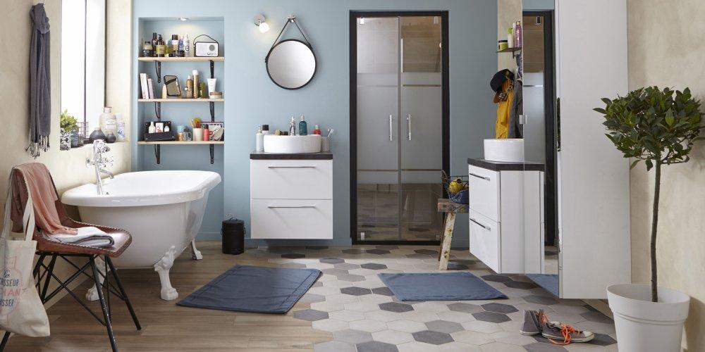 Carrelage salle de bains  modèles, conseils\u2026 - Marie Claire