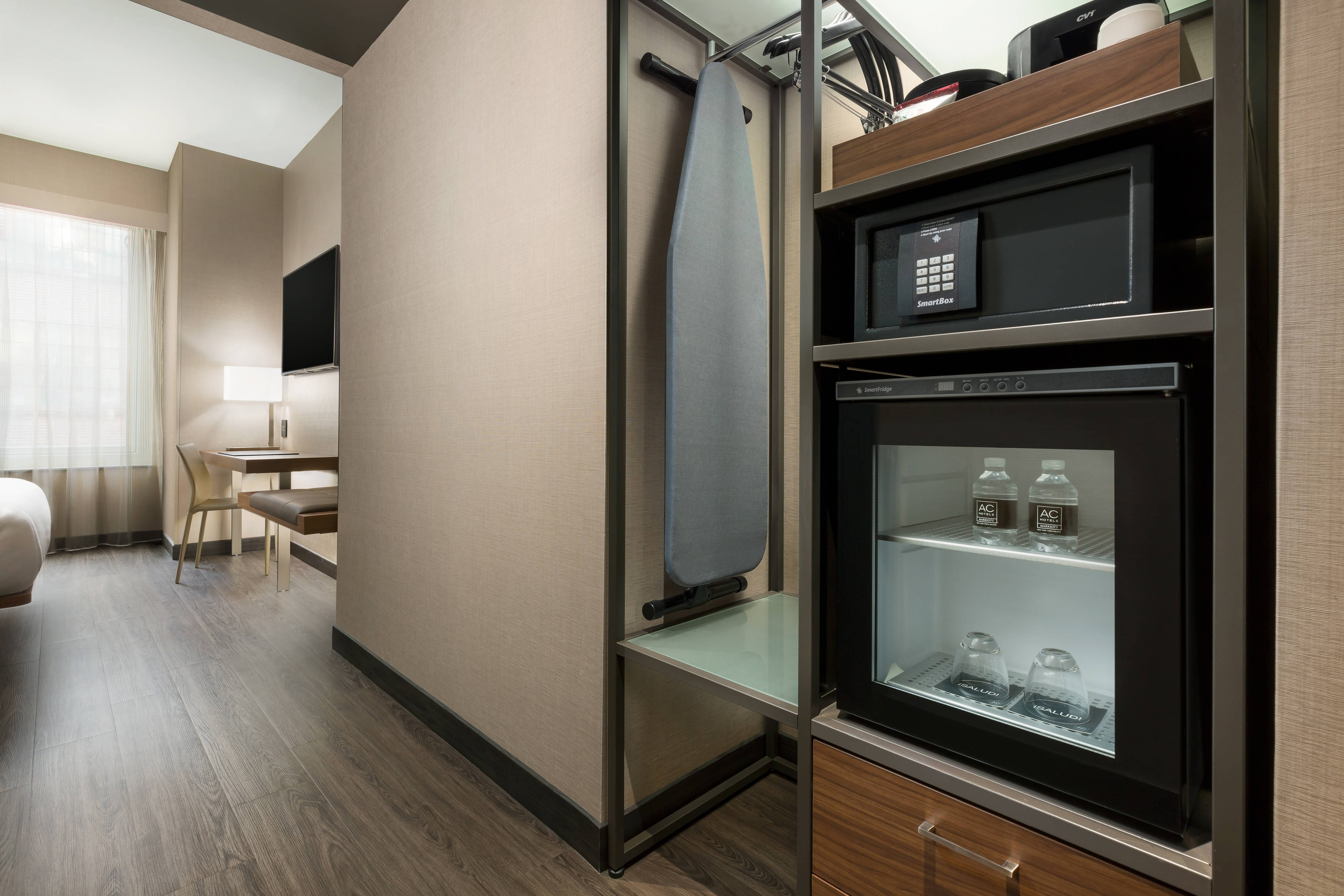 Hotel Caminetto Smartbox Ac Hotel New York Times Square Hotel Amenities Hotel Room Highlights