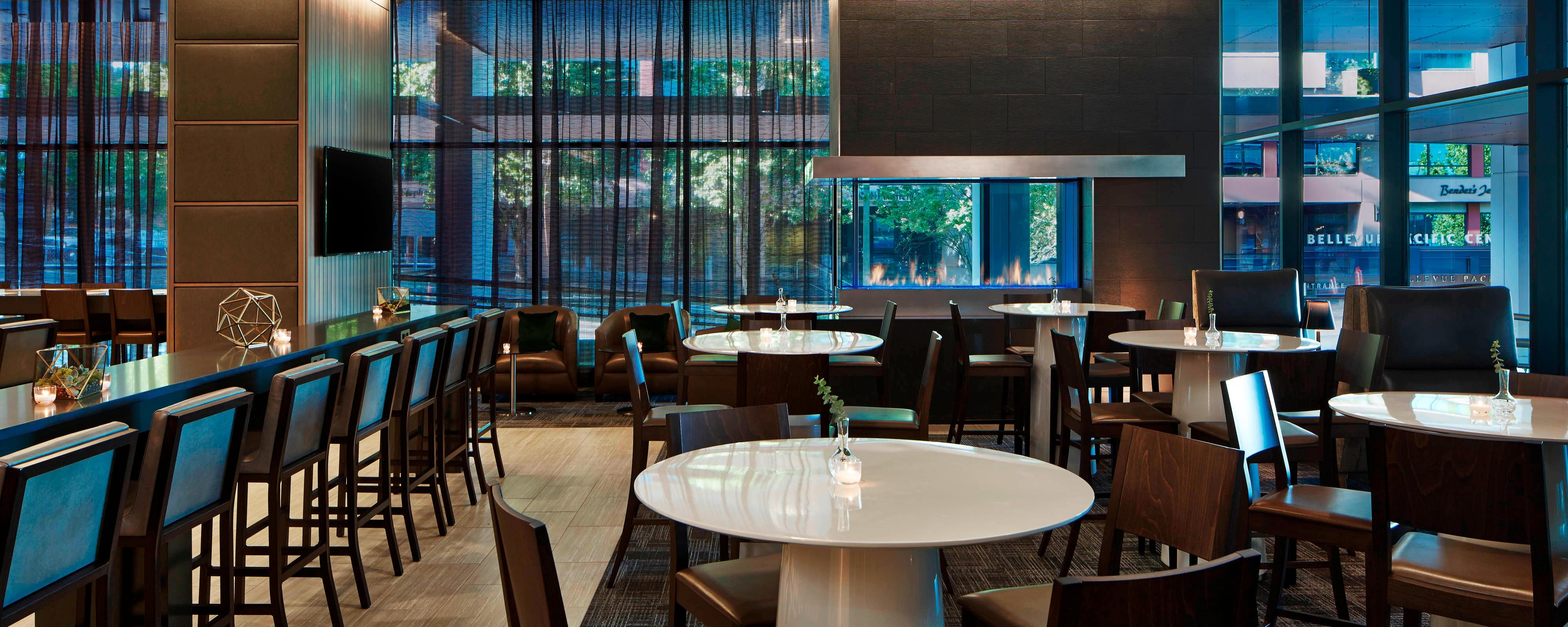 Dining Lounge Hotel Dining Downtown Seattle Residence Inn Seattle Downtown